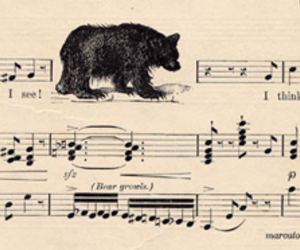 bear, music, and note image