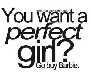 barbie, perfect, and quote image