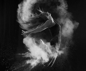 dance, jump, and black image