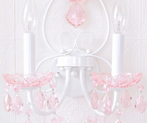 beautiful, chandelier, and pastel image
