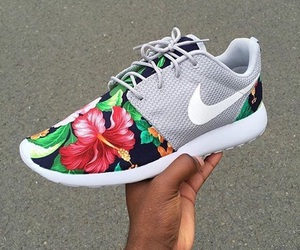 floral, flowers, and shoes image