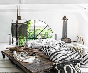 home, bed, and design image