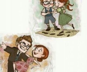 up, love, and disney image