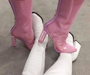 boots, cool, and pink image