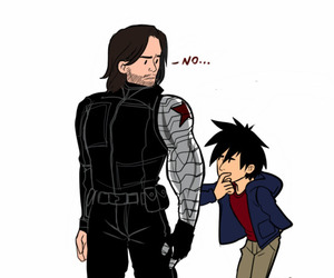 art, Marvel, and winter soldier image