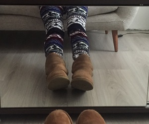boots, favorites, and printed leggings image