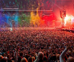 coldplay, colors, and concert image
