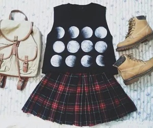 outfit, fashion, and moon image