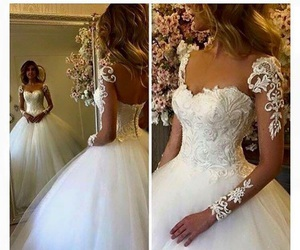 beautiful, lace, and wedding image