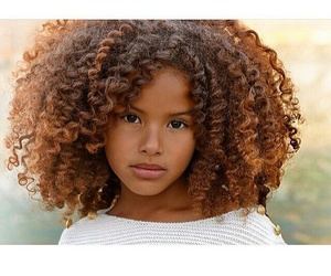beauty, curly hair, and black image