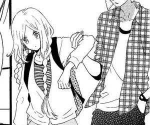 manga, hirunaka no ryuusei, and manga shojo image