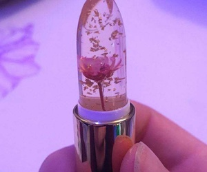 flowers, lipstick, and pink image
