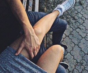 couple, goals, and legs image