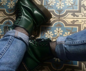 boots, green, and grunge image