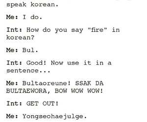 fire, bts, and fire hangul image