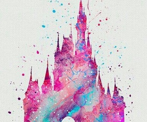 disney, castle, and art image