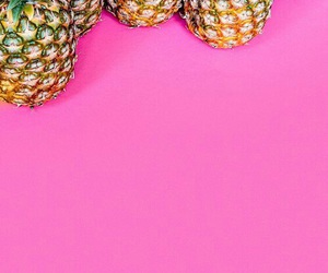 pink, wallpaper, and pineapple image
