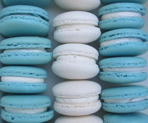 blue, food, and white image