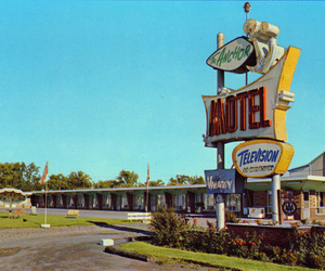 motel, retro, and vintage image