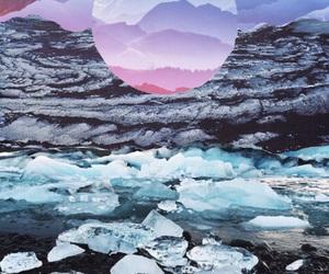 blue, ice, and background image