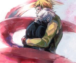 anime, boys, and sad image