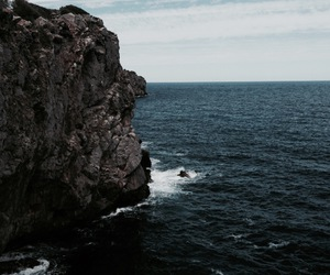blue, cliff, and faded image