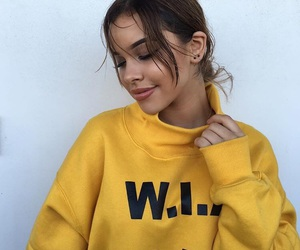 girl, yellow, and fashion image