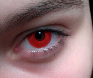 eyes, lens, and red image