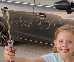 funny, dad, and car image