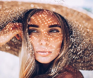girl, hat, and summer image