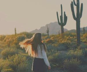 cactus, girl, and tumblr image