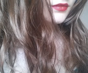 aesthetic, beauty, and brown hair image