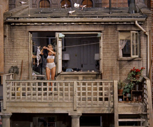 vintage, rear window, and Hitchcock image