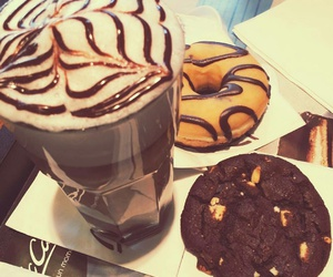 coffe, cookie, and donut image