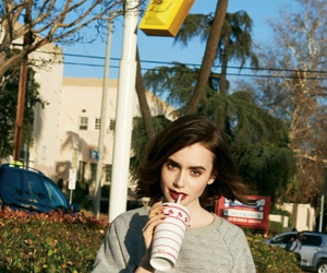 famous, wallpaper, and lily collins image