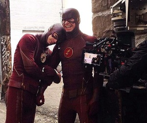 grant gustin, barry allen, and flash image