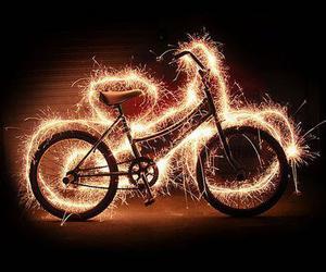 light, bike, and bicycle image