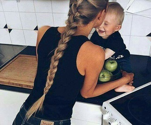baby, hair, and family image