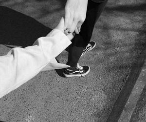 hands couple boy girl b&w image