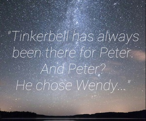 neverland, peter, and sky image