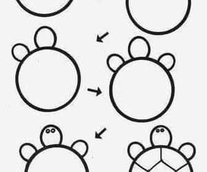 drawing, Easy, and turtle image
