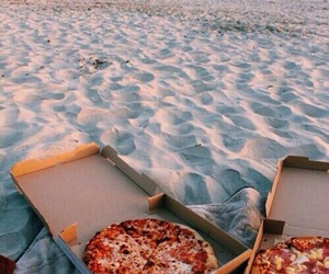 pizza, beach, and food image