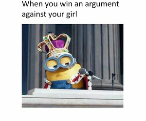 argument, funny, and minions image