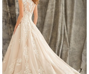 clothes, fashion, and wedding dress image