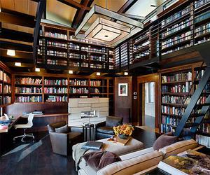 book, library, and house image