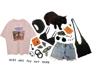 aesthetic, indie, and outfit image