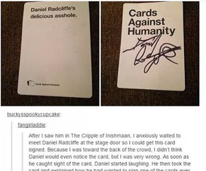 actor, card, and daniel radcliffe image