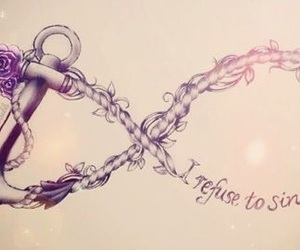 anchor, tattoo, and infinity image