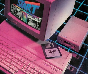 aesthetic, computer, and pink image