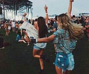 girls, festival, and friends image